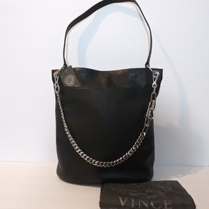 NWT VINCE CAMUTO LEATHER LIYA HOBO SHOULDER BAG